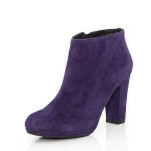 Geox Respira Purple Suede Kali Ankle Boots
